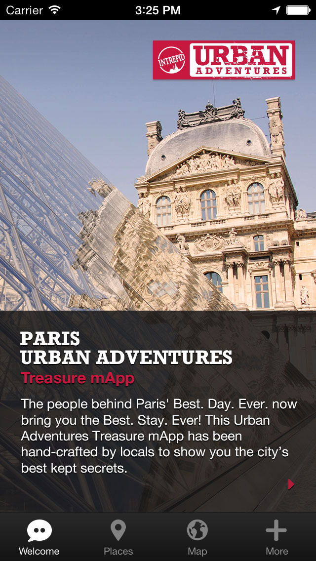 Paris Urban Adventures - Travel Guide Treasure mApp screenshot 1