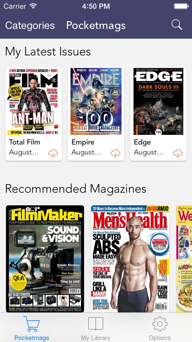 Pocketmags Digital Newsstand screenshot 1