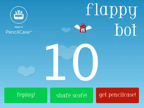 Flappy Bot: Made in PencilCase screenshot #3