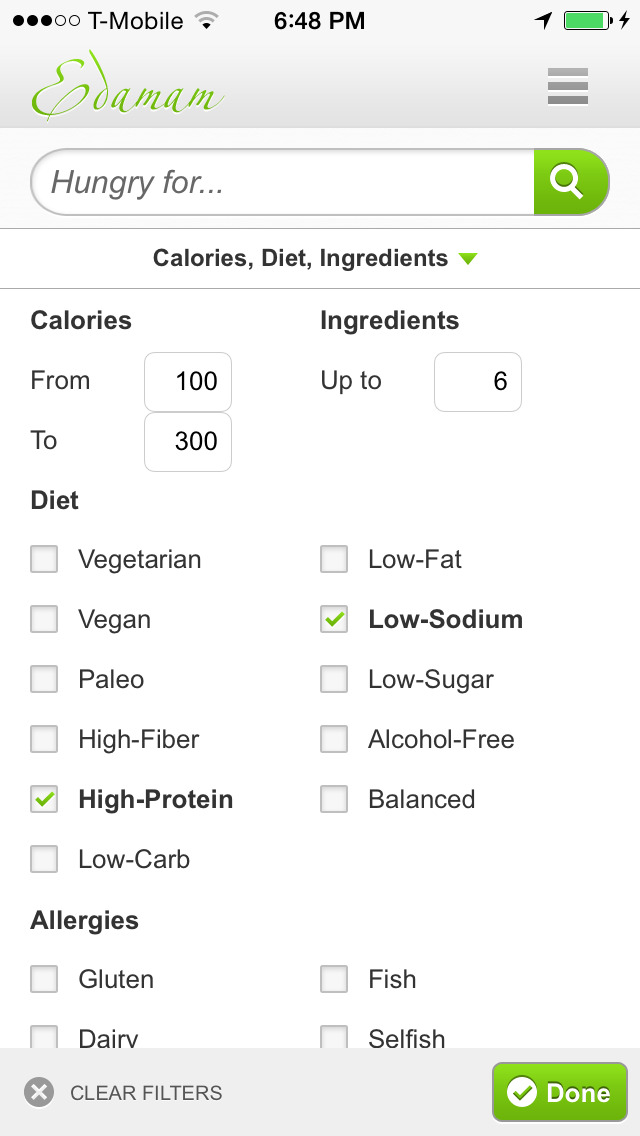 Recipes and Nutrition screenshot 2