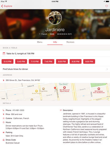 OpenTable screenshot 7