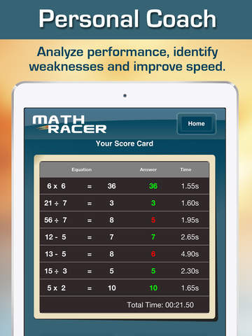 Math Racer 3.0 - Addition, Subtraction, Multiplication and Division Tables Speed Game screenshot 8