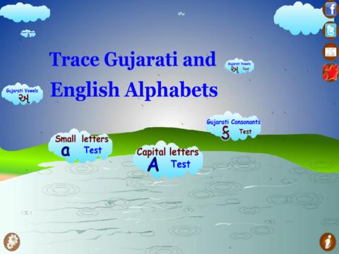 Trace Gujarati and English Alphabets Kids Activity screenshot 2