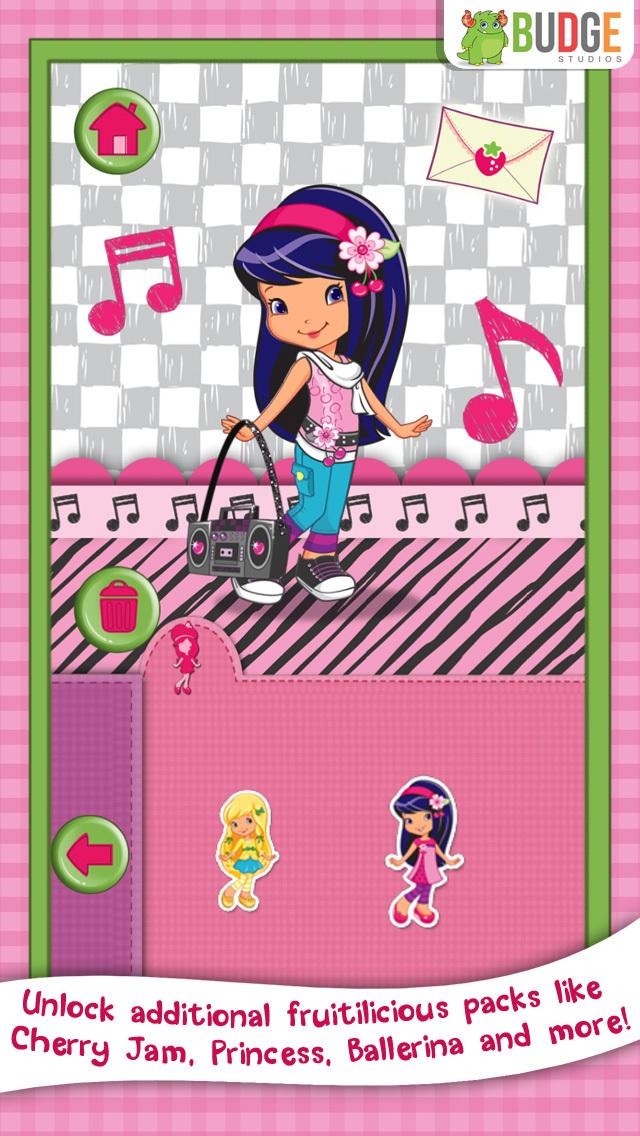 Strawberry Shortcake Card Maker Dress Up - Fashion Makeover Game for Kids screenshot 5