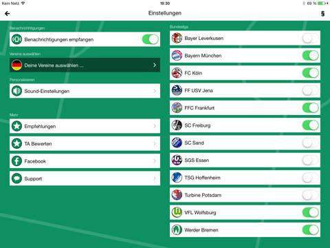 Frauen Fußball Bundesliga screenshot 7