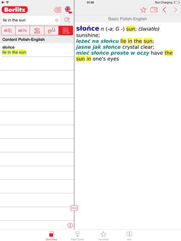 Polish - English Berlitz Basic Dictionary screenshot 7