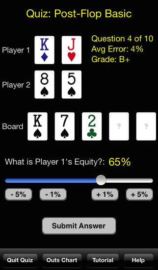Hold'em Odds Quizzer screenshot 2