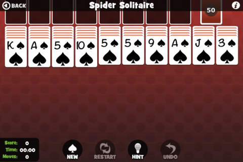 Spider Solitaire (Pokima) - náhled