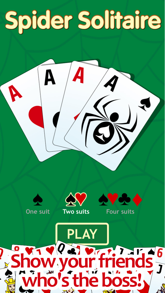 Spider solitaire - classic popular game screenshot 1