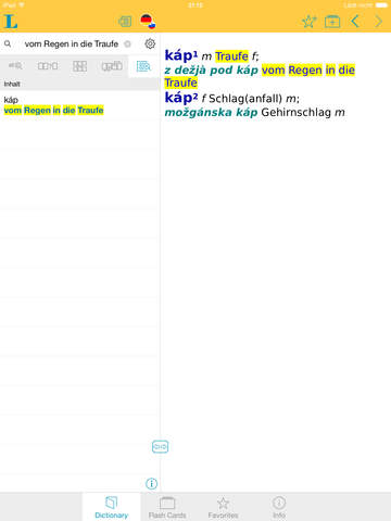 German Slovenian Dictionary screenshot 7