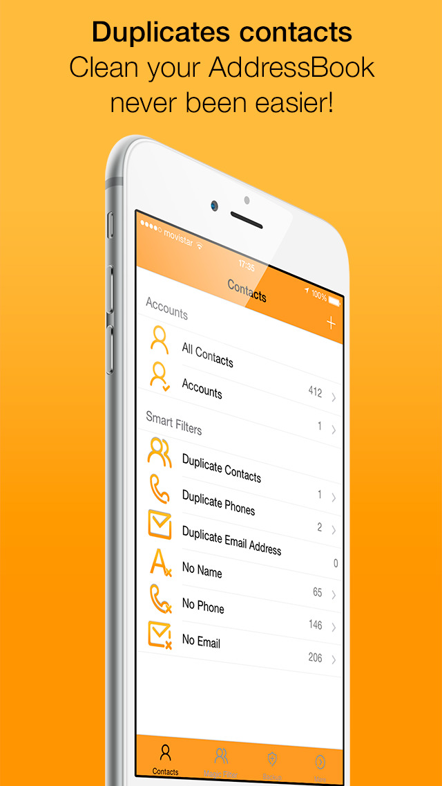 Clean Contacts Pro - Cleans and removes duplicate contacts in your Contacts Book screenshot 1