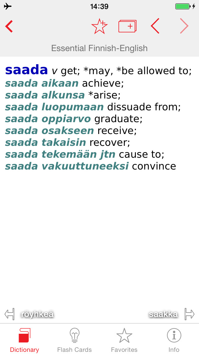 Finnish - English Berlitz Essential Dictionary screenshot 1