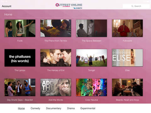 Outfest Online by DIRECTV screenshot 2