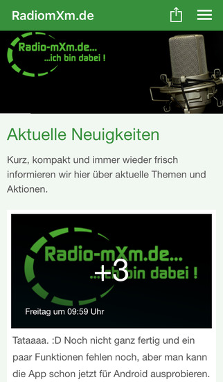 Radio-mxm.de screenshot 1