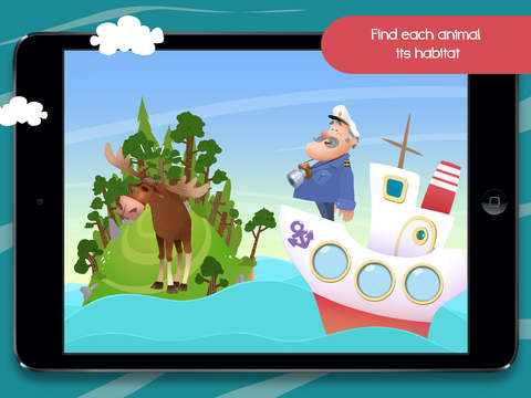 Sailing Home – Learn Animal Habitats. Educational game for preschool kids screenshot 8