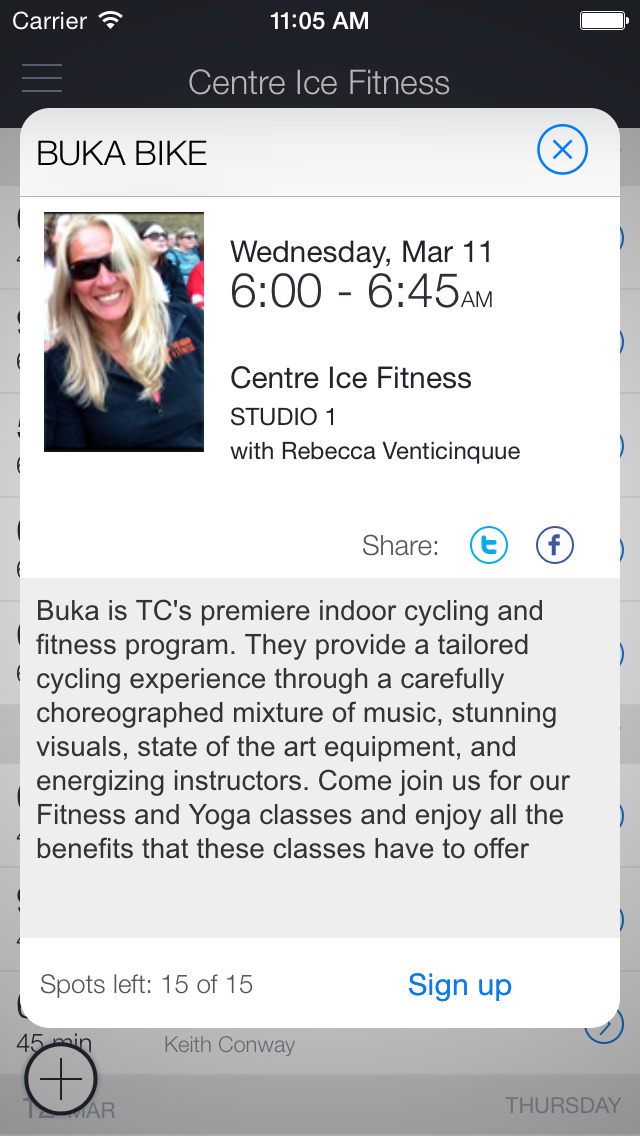 Centre Ice Fitness screenshot 2