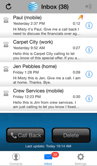 AT&T Voicemail Viewer (Home) screenshot 1