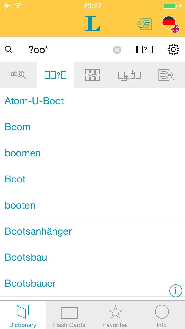 German English XXL Dictionary screenshot 4