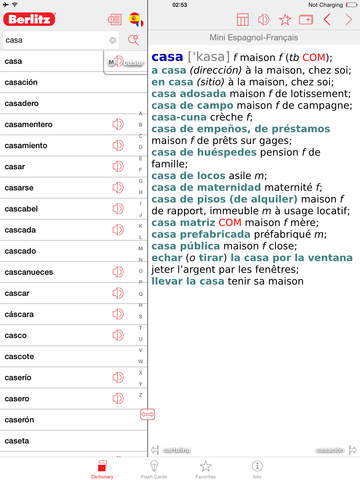 Spanish - French Berlitz Mini Talking Dictionary screenshot 6