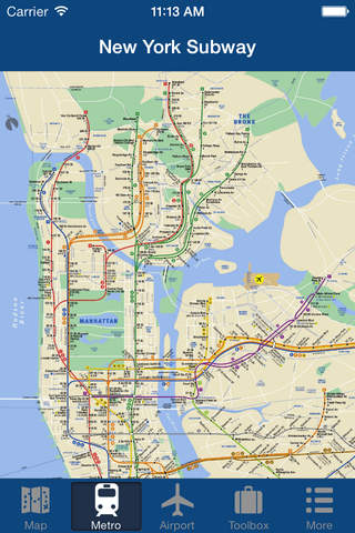 New York Offline Map - City Metro Airport with Tra - náhled