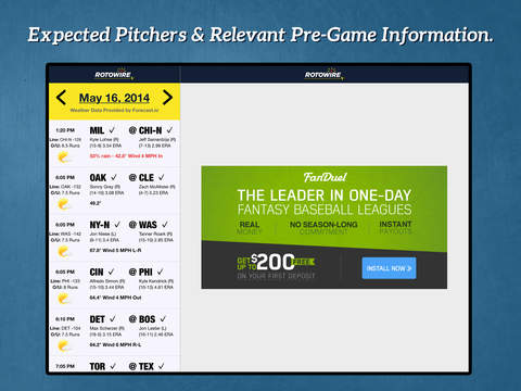 Daily Baseball Lineups screenshot 4
