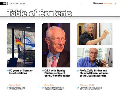 Weizmann Magazine of Science and People - náhled