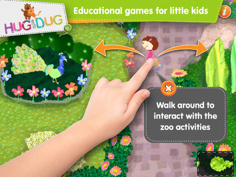 Zoo Explorer -  HugDug animals activity game for little kids. screenshot 2