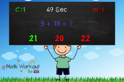 Math Workout for Kids - Practice, Timed Quiz for P - náhled