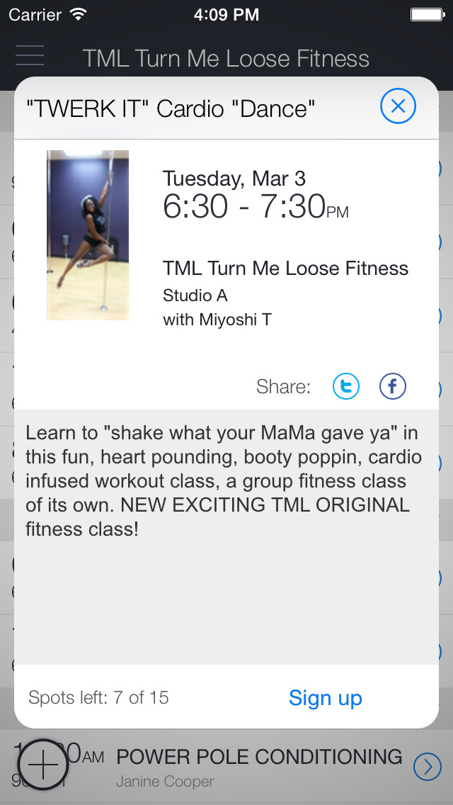 Turn Me Loose Fitness screenshot 2