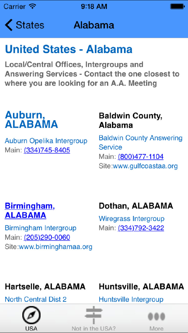 Alcoholics Anonymous Meetings & Locations screenshot 3