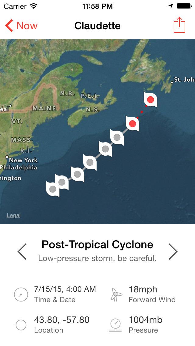 My Hurricane Tracker Pro screenshot 1