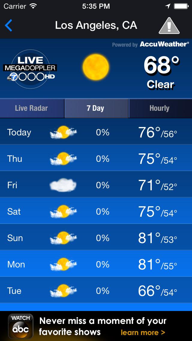 MEGADOPPLER - ABC7 LA Weather screenshot 3
