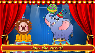 All Clowns in the toca circus - Free app for children screenshot 1