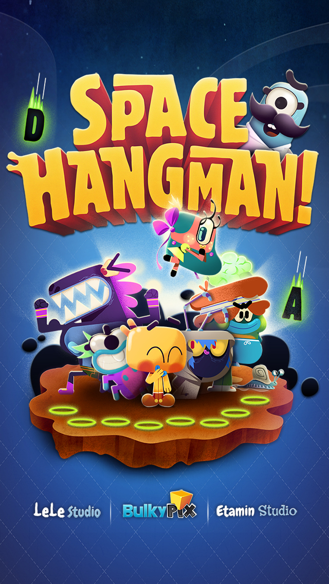 Space Hangman: Aliens Go Crazy screenshot 1