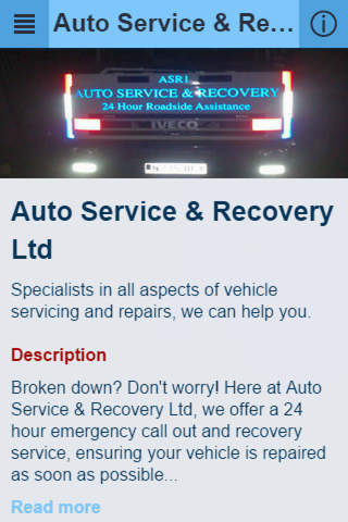 Auto Service & Recovery - náhled