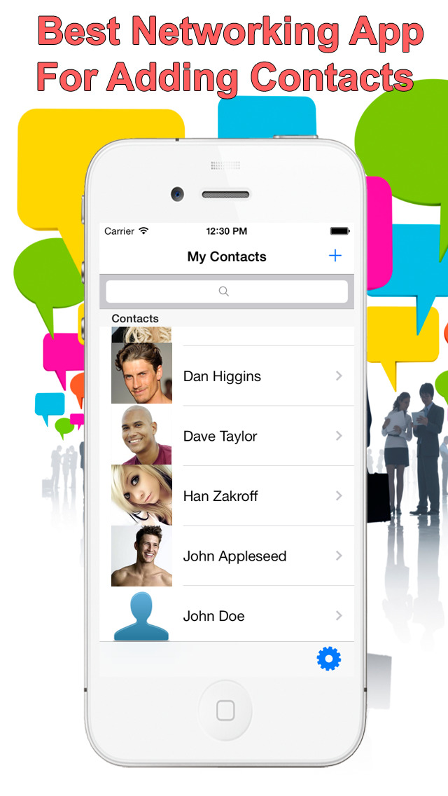 Photo Contacts +  Group Contacts & Smart Address book plus screenshot 1