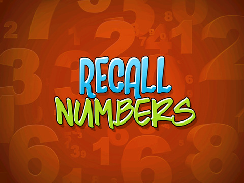 Recall Numbers screenshot 4