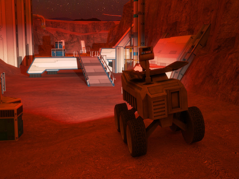 3D Mars Parking - Red Planet Space Moon Mission Rover Vehicles Simulator Driving Games screenshot 7