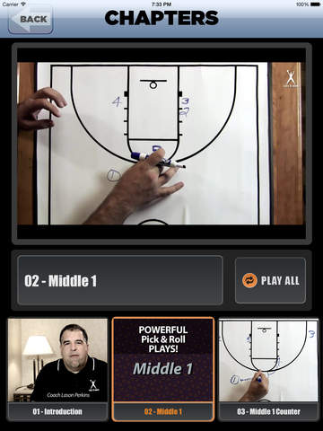 Powerful Pick & Roll Plays - With Coach Lason Perkins - Full Court Basketball Toolbox 13 Training Instruction XL screenshot 3