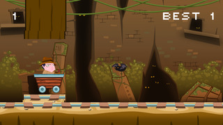 ``Action Race of Jumpy Temple Jones: Mine-Cart Rail Escape Racing Free screenshot 3