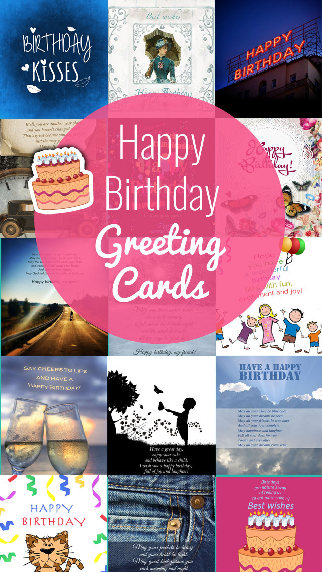 Birthday Greeting Cards - Happy Birthday Greetings & Picture Quotes screenshot 1