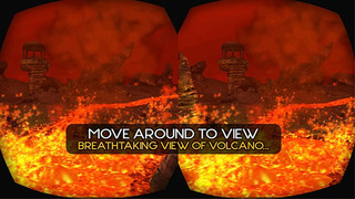 VR Drive through Live Volcano Lava 3D screenshot 2