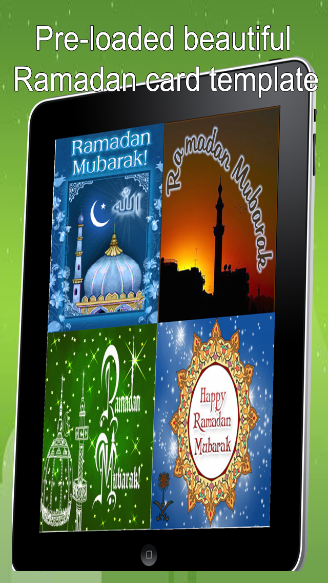 Happy Ramadan Mubarak.Create and Send Ramadan Greeting Cards With Text and Voice Message screenshot 1