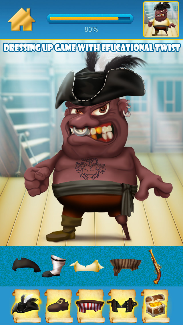 My Pirate Adventure Draw And Copy Game - The Virtual Dress Up Hero Edition - Free App screenshot 2