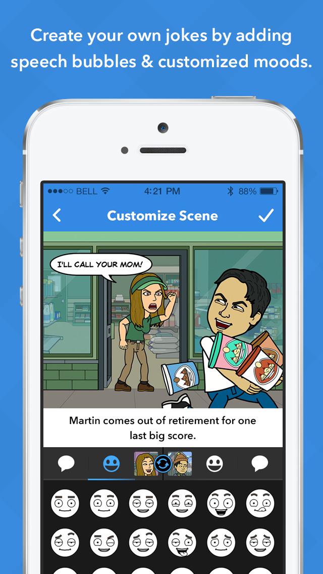 Bitstrips screenshot 4