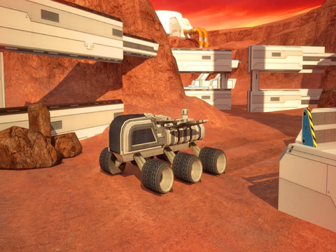 3D Mars Parking - Red Planet Space Moon Mission Rover Vehicles Simulator Driving Games screenshot 9