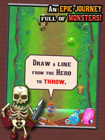 Monster Slash - Epic Hero Quest to Defeat Evil Creatures screenshot #2