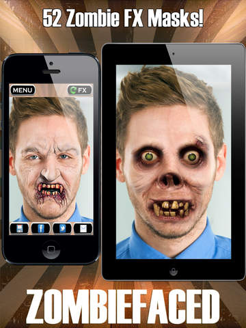 ZombieFaced Pro Edition -The Scary Zombie & Horror FX Face Booth screenshot 5