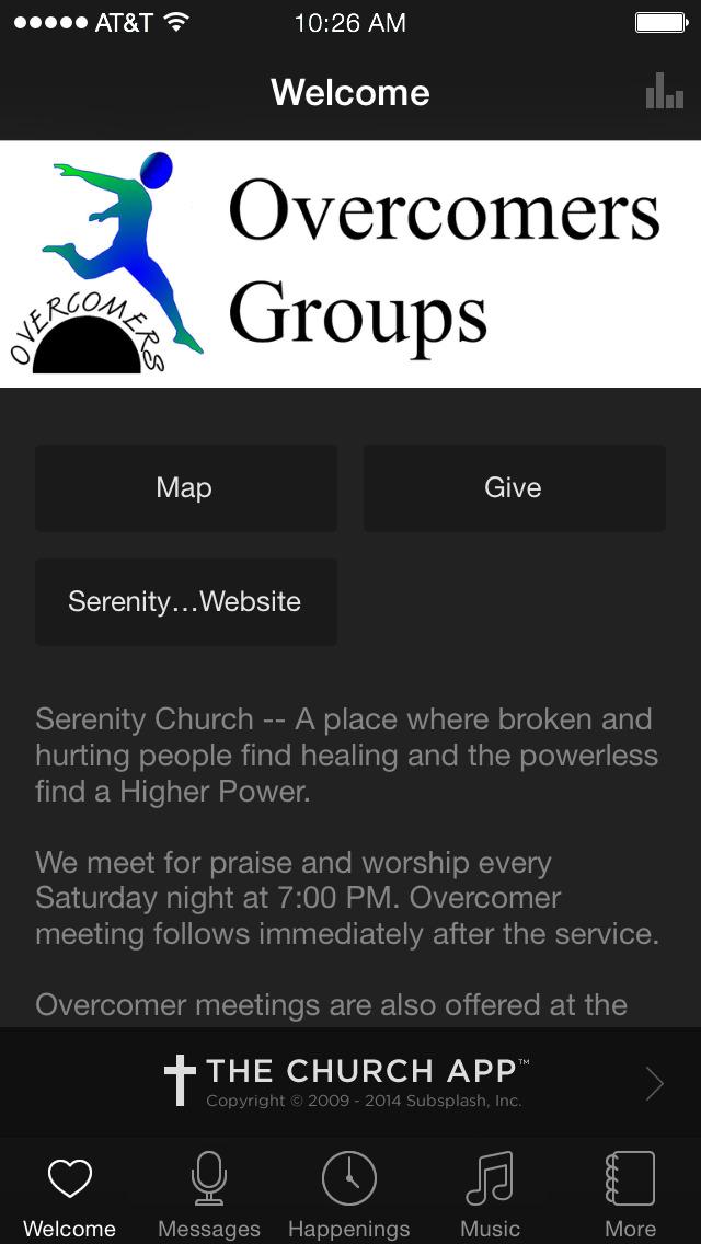 Serenity Church screenshot 1