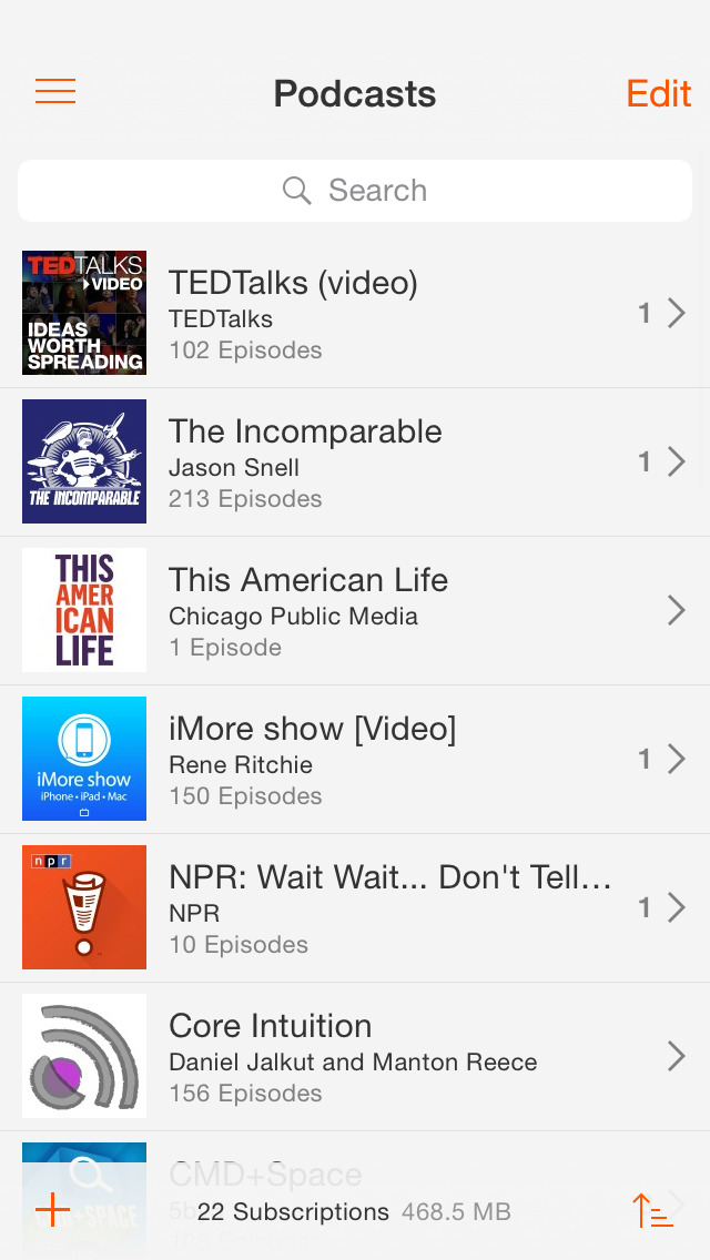 Instacast 5 - Podcast Client screenshot 1